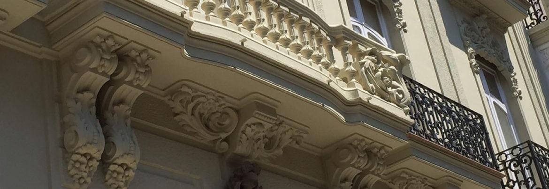 Proyecto rehabilitación fachada con trabajo de artesanado