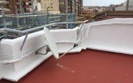 Rehabilitación cubierta edifico Valencia Puntal Tecnico