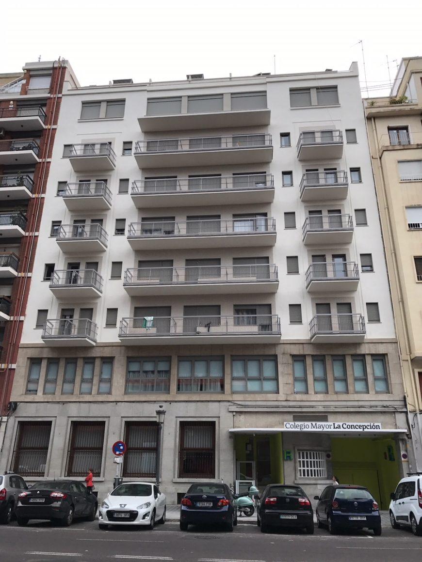 Restauración de balcones en la Residencia de Estudiantes La Concepción, Valencia