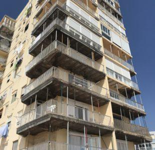Rehabilitación de fachadas apartamentos de playa Valencia