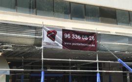 Restauración fachada Puntal Tecnico Valencia