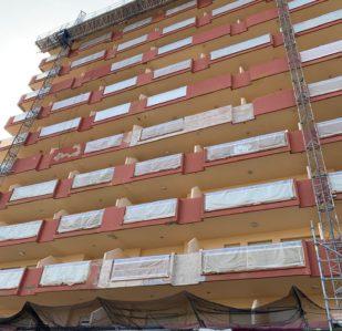 Rehabilitación fachada apartamento de playa Puntal Tecnico Valencia