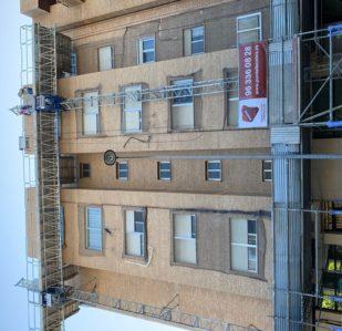 Rehabilitación de fachadas edicificio Valencia Puntal Tecnico
