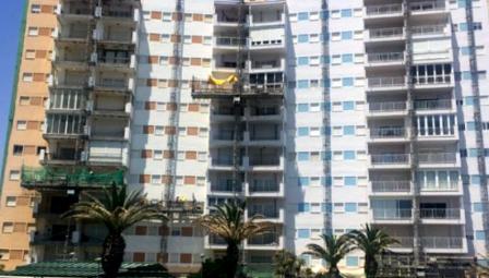 Rehabilitación de Fachadas en costa apartamentos de playa