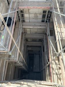 restauracion patio de luces edificio Grabador Esteve 12 puntal tecnico valencia