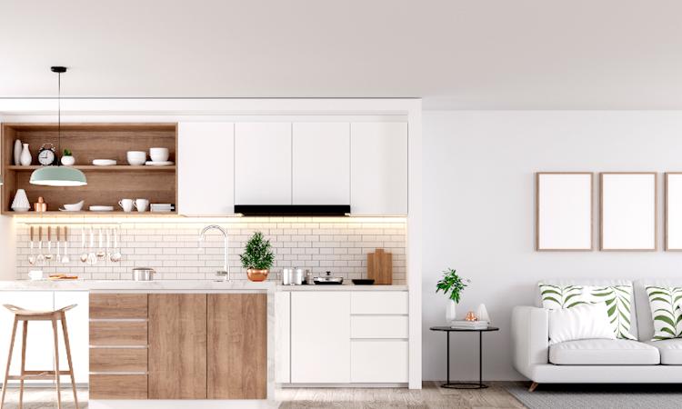 reforma vivienda cocina integrada en el salon 10