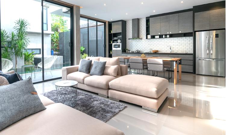 reforma vivienda cocina integrada en el salon 3