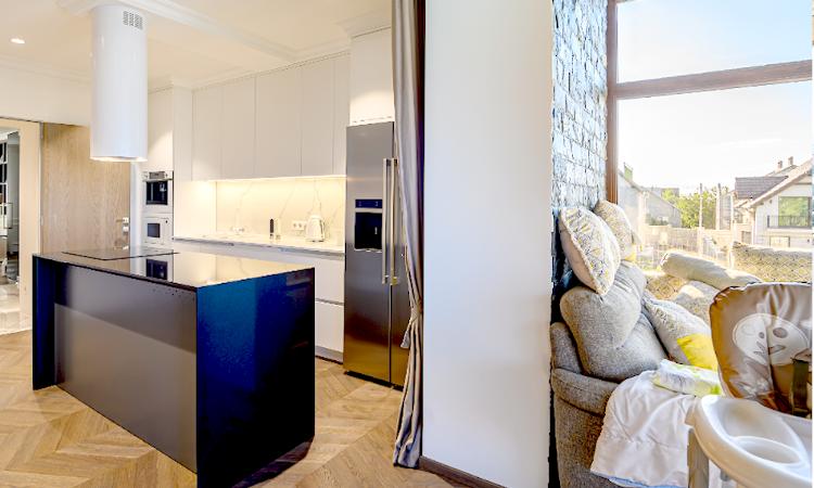 reforma vivienda cocina integrada en el salon 7