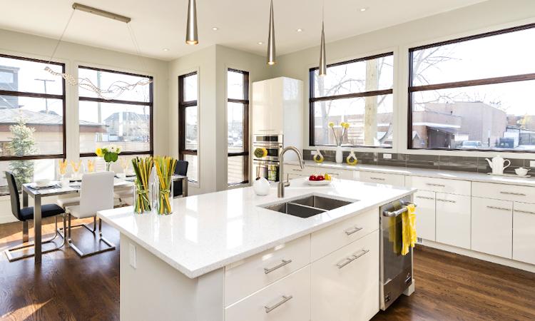 reforma vivienda cocina integrada en el salon 9