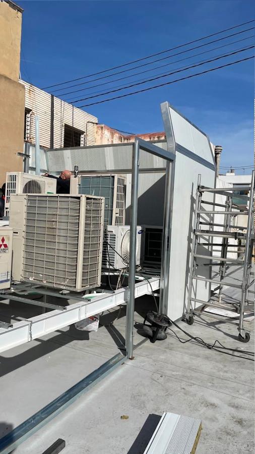 antes aire acondicionado aislacion acustica y contra vibraciones rehabilitacion de edificios puntal tecnico valencia