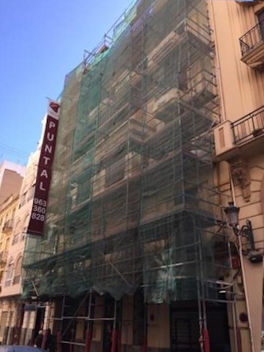 Rehabilitacion de fachada Edificio calle Maestro Jose Serrano 9, Valencia antes